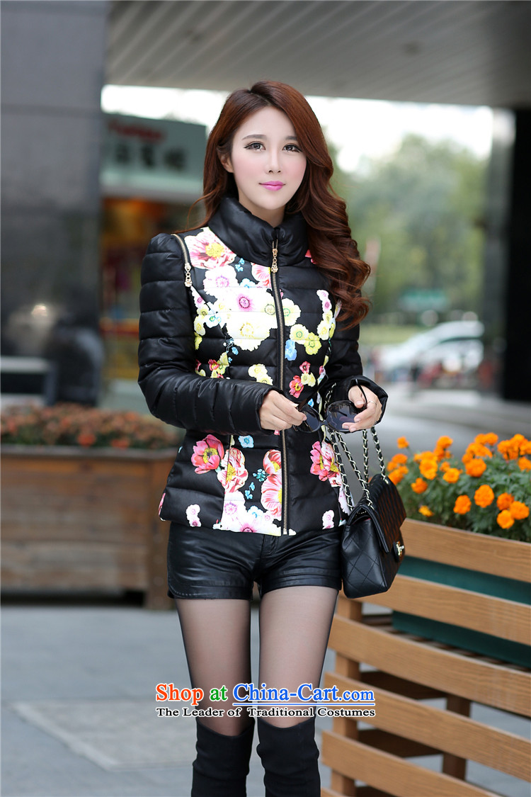 Winter clothing new 2015 cotton ginning with PU leather garments leather short-jacket, female jacket for larger women to intensify the thick black聽5XL warm picture, prices, brand platters! The elections are supplied in the national character of distribution, so action, buy now enjoy more preferential! As soon as possible.