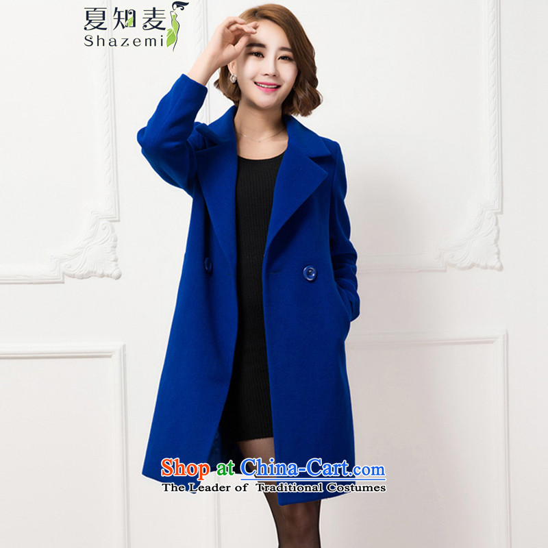 Mr Ronald know聽what version of the new 2015 jacket coat in female long long-sleeved coats female聽NR-60091 gross?聽blue聽XL