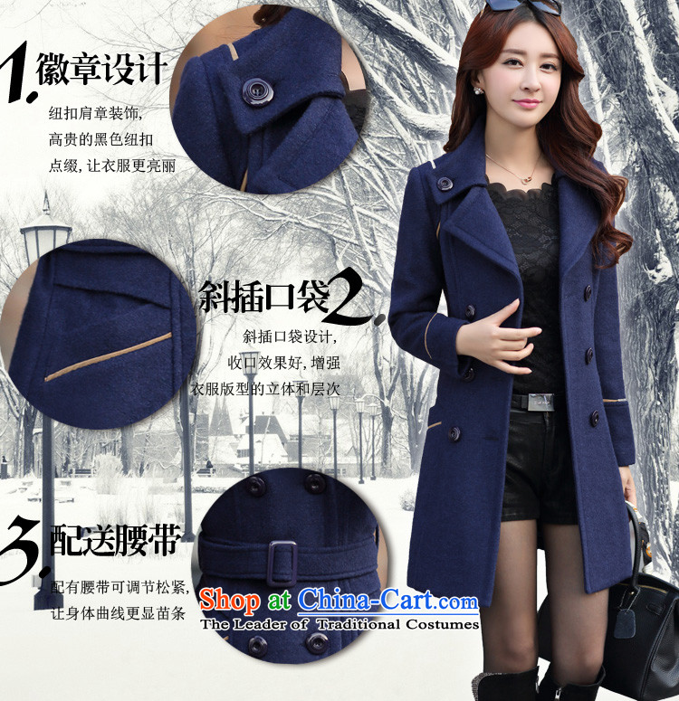 Mrs flower of 2014 winter clothing new Korean girl who decorated video? In gross thin coat long coats 6668 gross? Navy聽XXXL picture, prices, brand platters! The elections are supplied in the national character of distribution, so action, buy now enjoy more preferential! As soon as possible.