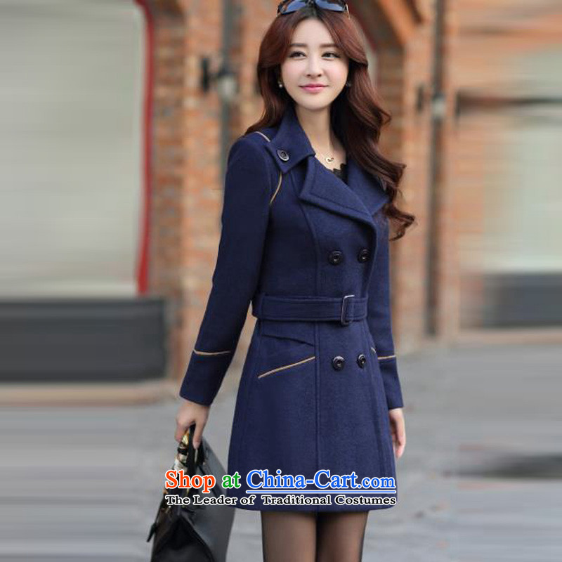 Mrs flower of 2014 winter clothing new Korean girl who decorated video? In gross thin coat long coats 6668 gross? Navy聽XXXL, Mrs flower-na (SODORNEE) , , , shopping on the Internet