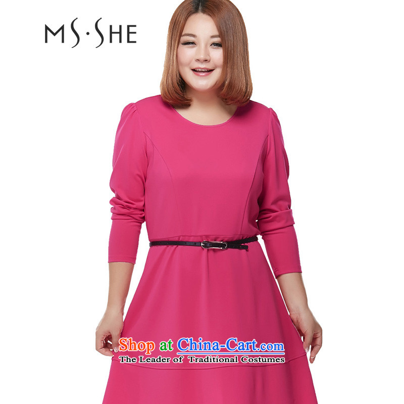 To increase the number msshe women 2015 Autumn New_ thick MM video thin Sau San dresses in red?6XL 2209