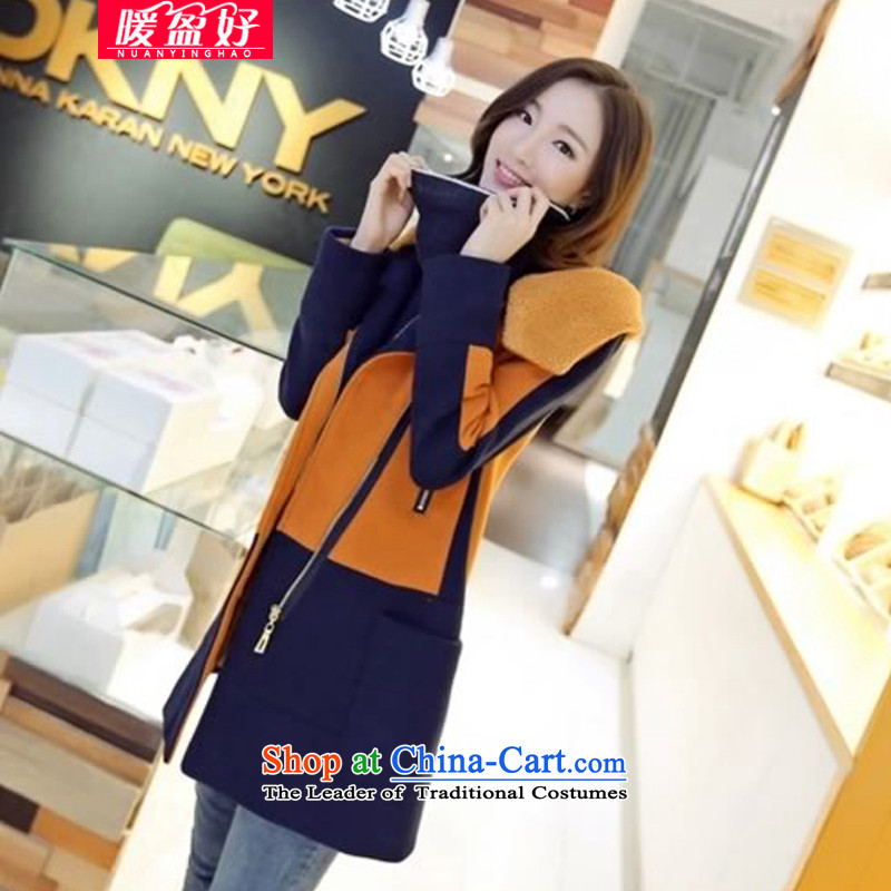 Warm Winter 2014 surplus good new coats female Korean jacket in Sau San long hair? coats female 666 Earth- L