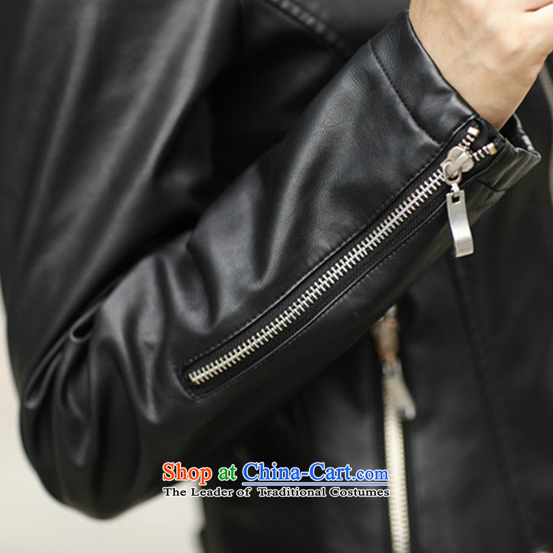 The autumn and winter, XL female thick mm Sleek and Sexy PU Yi long-sleeved western leather jacket short of Sau San plus cotton聽XXXXL, small jacket Biao (BIAOSHANG yet) , , , shopping on the Internet