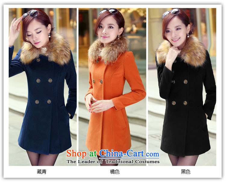 Lonely if new products won the 2014 winter edition in Sau San double-long hair for gross? jacket female navy XXXL 1031 picture, prices, brand platters! The elections are supplied in the national character of distribution, so action, buy now enjoy more preferential! As soon as possible.