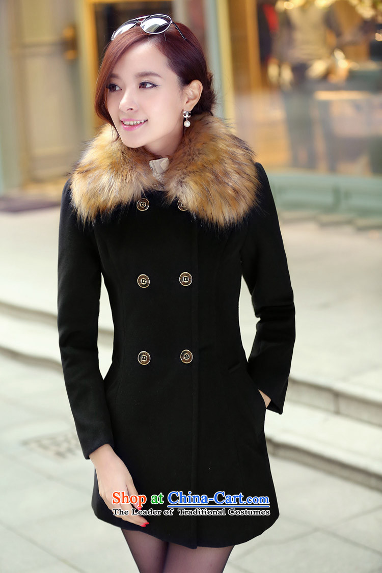 Lonely if new products won the 2014 winter edition in Sau San double-long hair for gross? jacket female聽navy聽XXXL 1031 picture, prices, brand platters! The elections are supplied in the national character of distribution, so action, buy now enjoy more preferential! As soon as possible.