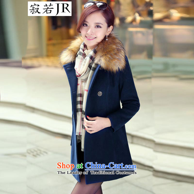 Lonely if new products won the 2014 winter edition in Sau San double-long hair for gross? jacket female聽navy聽XXXL, 1031 emissions (JIRUO if shopping on the Internet has been pressed.)