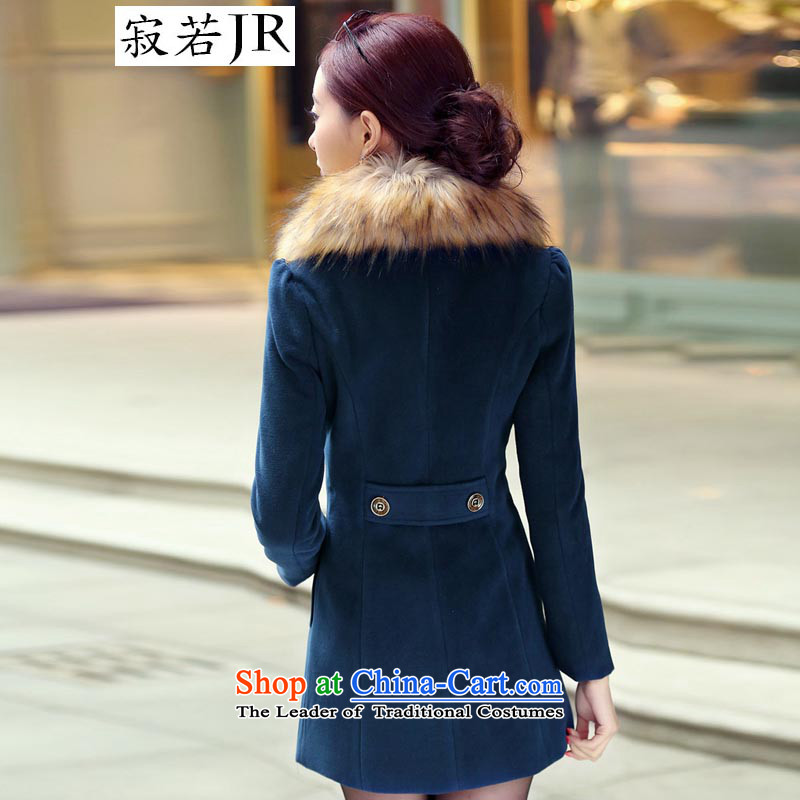 Lonely if new products won the 2014 winter edition in Sau San double-long hair for gross? jacket female navy XXXL, 1031 emissions (JIRUO if shopping on the Internet has been pressed.)