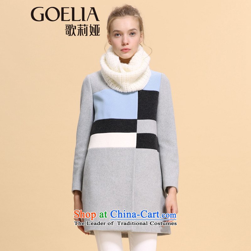 Song Leah GOELIA winter clothing new color in the Spell Checker long coat 14NC6E24B B11 Light Gray Xl(170/92a) flower