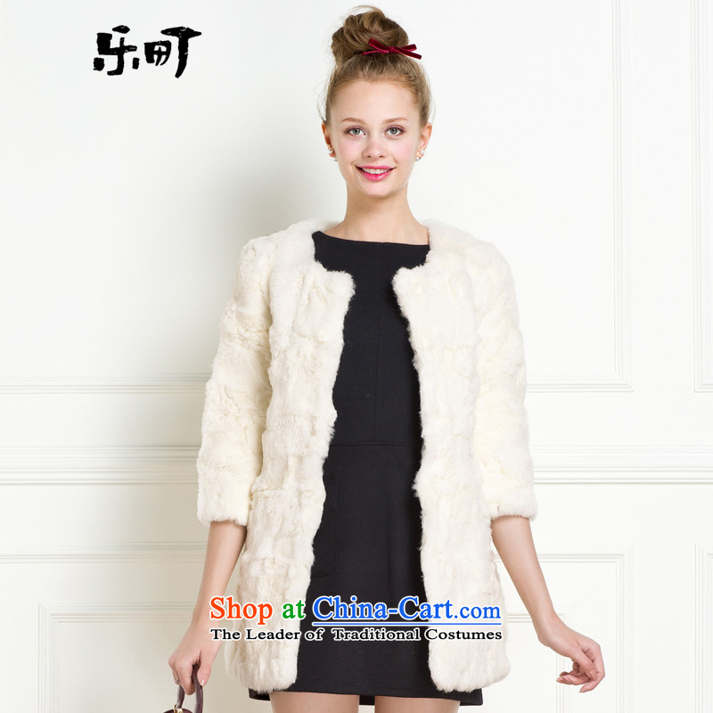 Lok-machi 2015 winter clothing new date of female 7 fur coats GWAA44302 sleeved whiteS