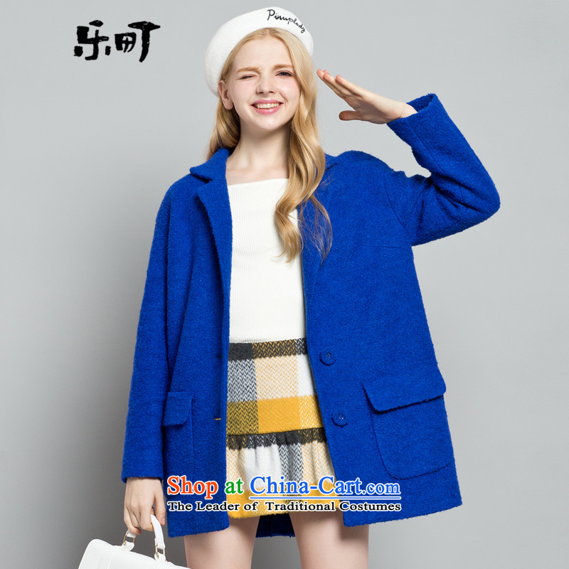 Lok-machi 2015 winter clothing new date of women's temperament? The jacket CWAA44622 BlueM