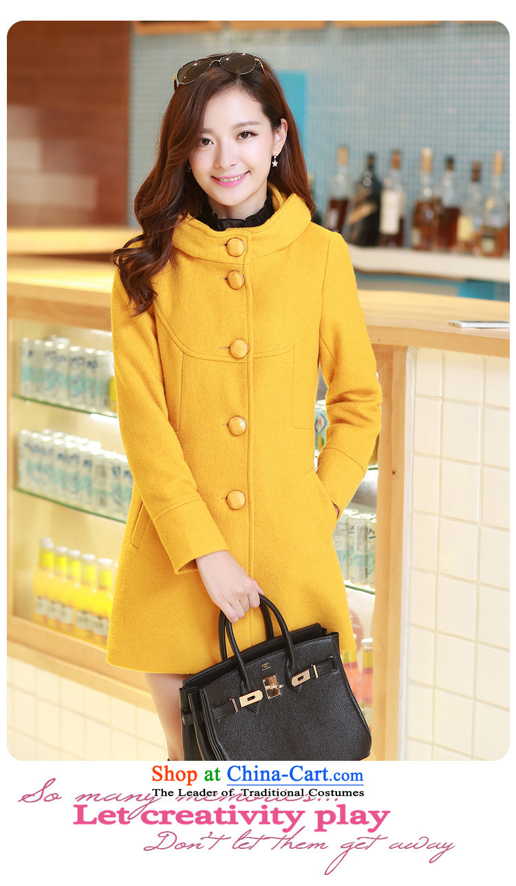 The United States welcomes the聽2015 New Korea Nga version stylish leave cap single row detained Sau San Mao coats LT07? Yellow聽M picture, prices, brand platters! The elections are supplied in the national character of distribution, so action, buy now enjoy more preferential! As soon as possible.