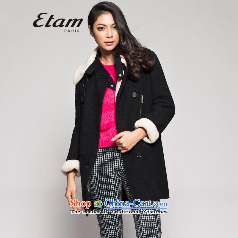Etam燛TAM爓inter can be shirked gross for long hairs? 14013409395 black�5_42_XL Jacket