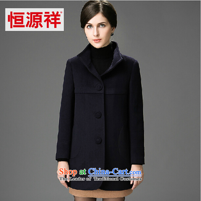 Hengyuan Cheung 2014 winter in new women's older wife? sub winter jackets wool coat? Navy 175_96A_XXL_