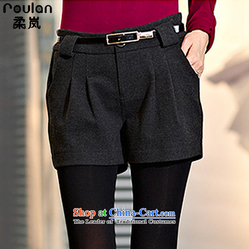 Sophie sponsors to xl thick MM2015 autumn and winter for women new pure color graphics thin shorts Sau San female�39牋3XL Gray