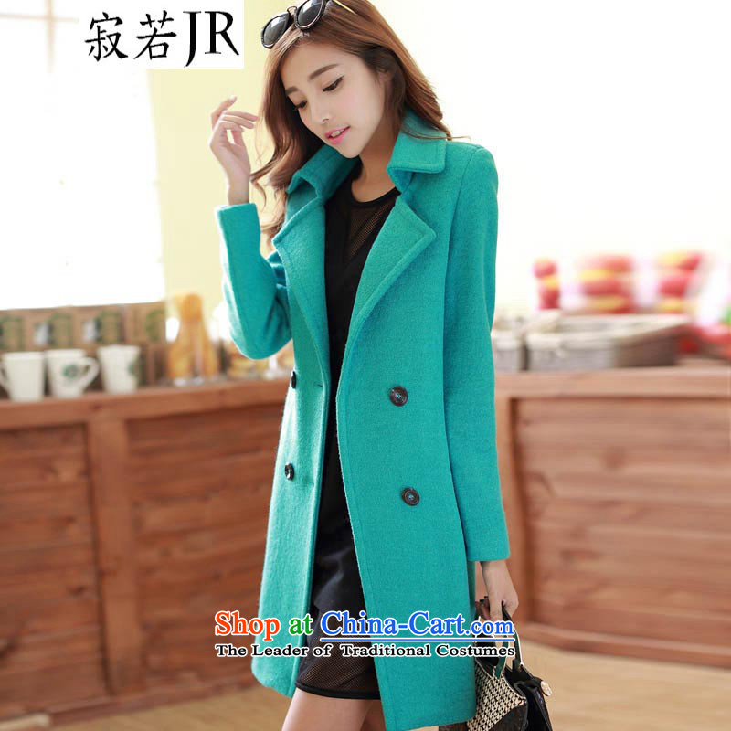 If new emissions by 2015 winter stylish in pure color long Sau San gross jacket coat? female�65 3165 Green燤