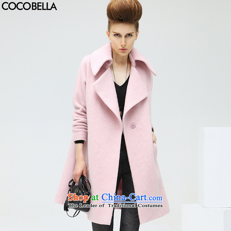 Cocobella 2015 autumn and winter new western trendy lapel long hair? jacket coat female CT210 rose toner S