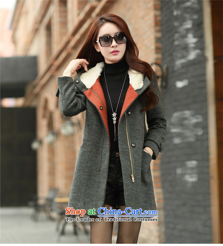 The United States and Li 2015 Spring New Korean Female Cap plush Sau San Mao jacket wool velvet cloak? 6211 Gray聽L picture, prices, brand platters! The elections are supplied in the national character of distribution, so action, buy now enjoy more preferential! As soon as possible.