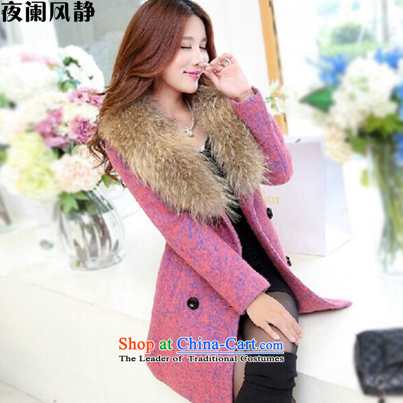Night table wind? coats female�15 Fall_Winter Collections new Korean video in thin long Sau San gross coats female D208 in this red燲XL