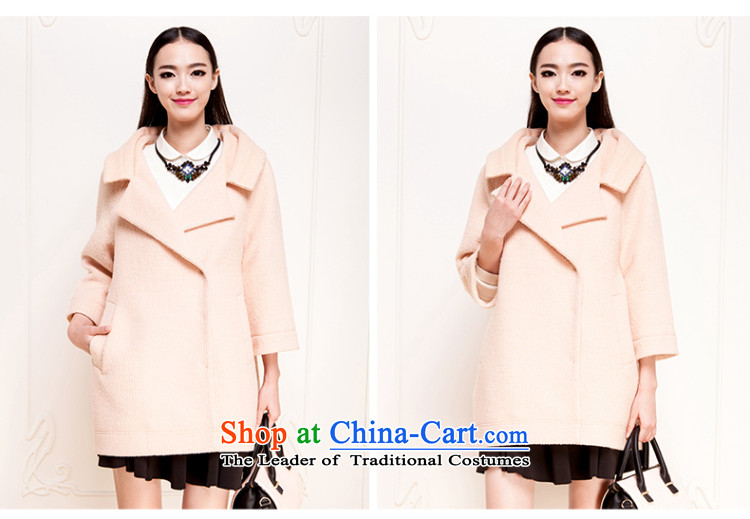 El Boothroyd autumn and winter 2015 New Korea long-sleeved pullover, long woolen coat gross? jacket female 6481017208 orange pink M picture, prices, brand platters! The elections are supplied in the national character of distribution, so action, buy now enjoy more preferential! As soon as possible.