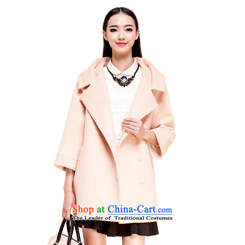 El Boothroyd autumn and winter 2015 New Korea long-sleeved pullover, long woolen coat gross? jacket female 6481017208 orange pink M Lai (eifini, Evelyn) , , , shopping on the Internet