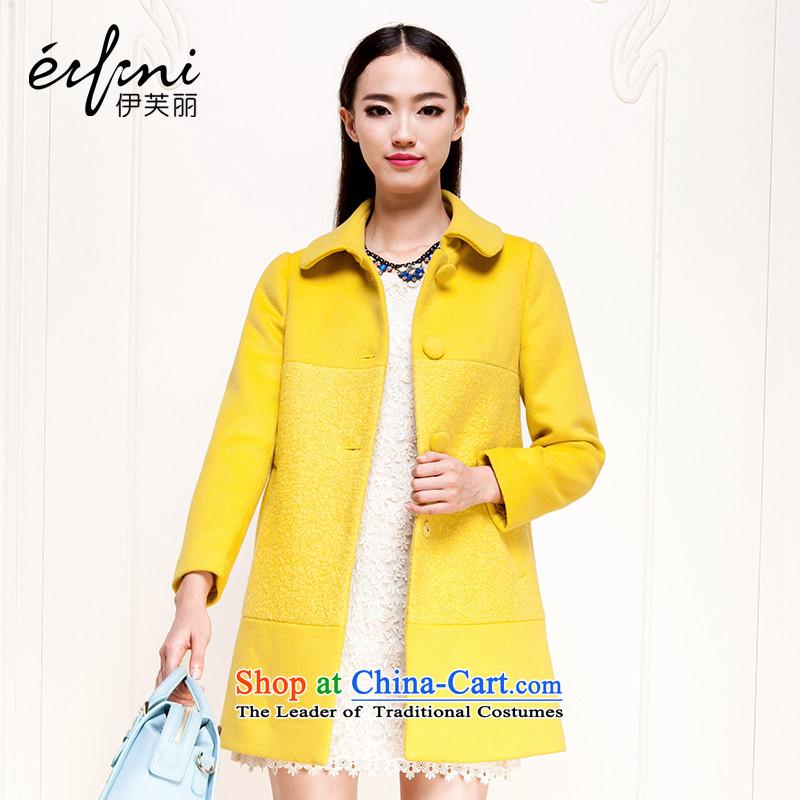 El Boothroyd 2015 winter clothing new Korean single row detained a wool coat wool coat female 6481017525 gross? LEMON YELLOW聽L