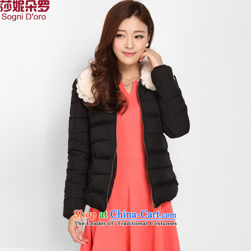 Luo Shani flower code female jackets to xl 泾蜮 cotton coat thick winter clothing Korean mm thick, Hin thin short, 3,788 cases were recorded, elegant black robe female� 6XL deliberate warm feather cotton