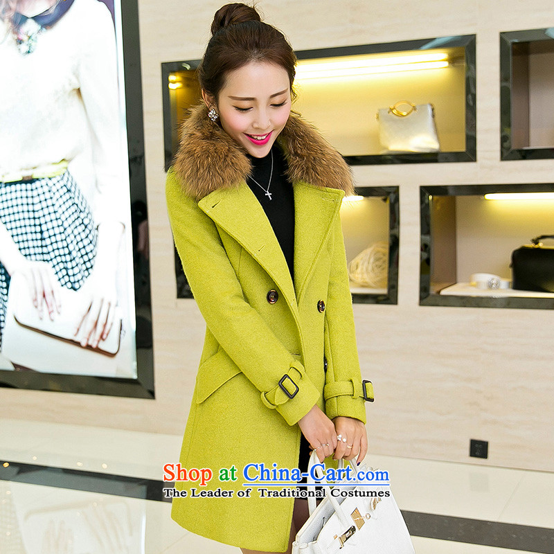 Bin Laden in Dili andin the autumn of 2015, the Cayman replacing the new Korean women really stylish Sau San Washable Wool Sweater in Gross Gross? coats long greenM