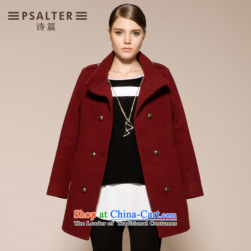 The autumn 2015 new psalm in long woolen coat jacket 64686096 gross? XXL_170_92A_-44 chestnut horses