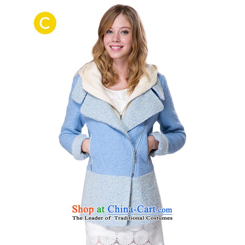 燗t the stylish and cozy cachecache lightning blue spell followed cap gross? female jacket coat 9862038429 lightning blue 429 M