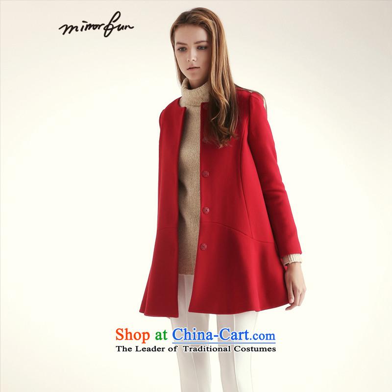 Mirror FUN winter clothing new round-neck collar big coats聽 M44933 A swing聽is RED聽M
