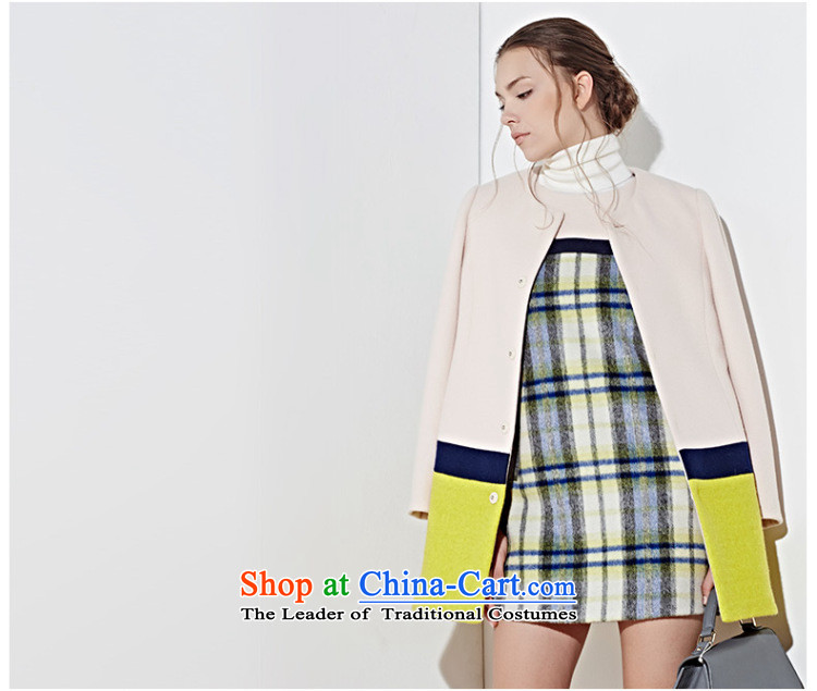 3 Color 2014 new winter clothing knocked color stitching in long coat D443059D10 female whiteM/160/84a Wong pictures, prices, brand platters! The elections are supplied in the national character of distribution, so action, buy now enjoy more preferential! As soon as possible.