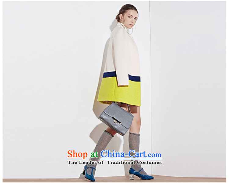 3 Color 2014 new winter clothing knocked color stitching in long coat D443059D10 female white M/160/84a Wong pictures, prices, brand platters! The elections are supplied in the national character of distribution, so action, buy now enjoy more preferential! As soon as possible.