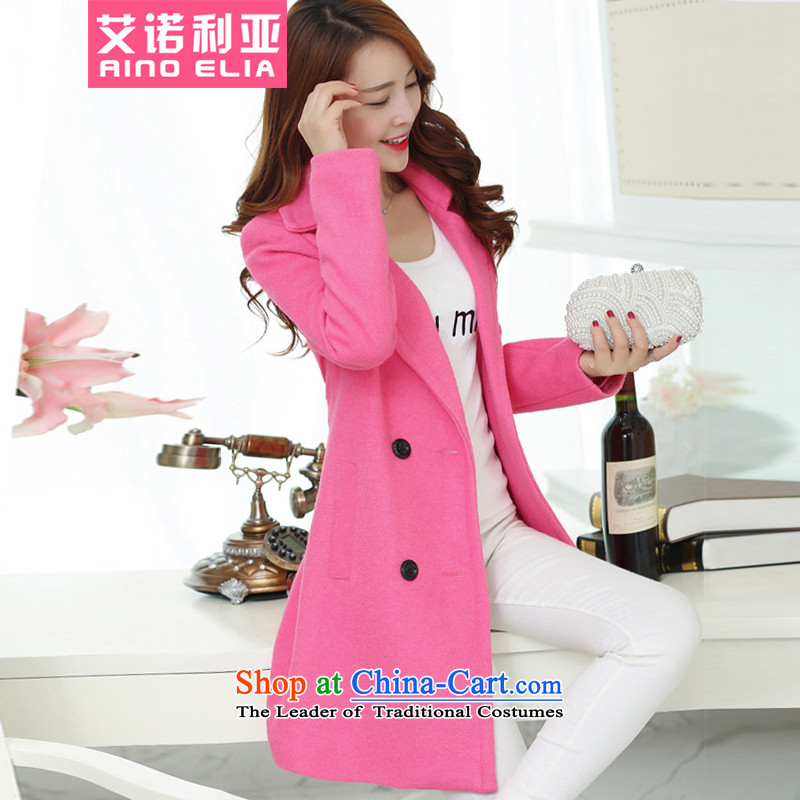 Aino, Korean female light and stylish classic long coats H3453 gross? The Red燲L