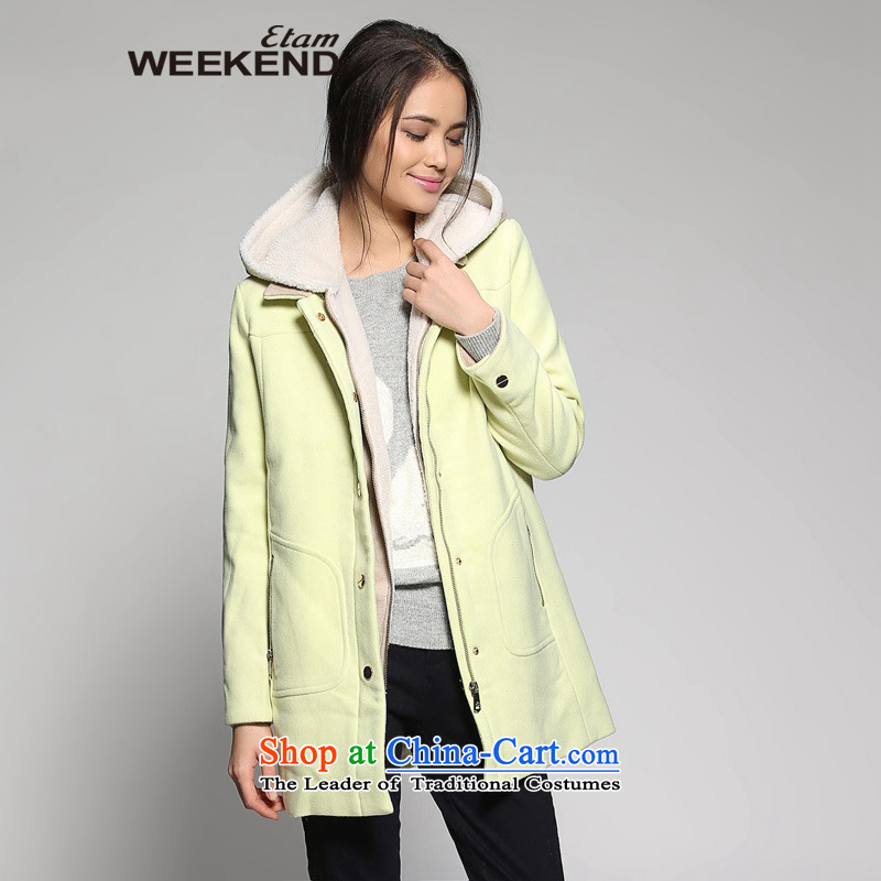 The?WEEKEND?winter solid color two kits? coats 14023410825 gross?160_36_S yellow