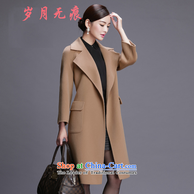 Double-side cashmere overcoat high-end counters 2015 Fall_Winter Collections new Korean wool coat gross girls coat? long and Color M