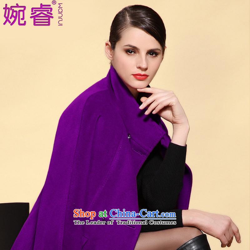 Yuen-core women�15 winter clothing new stylish collar in long-Sau San rotator cuff video thin hair?燤 purple female jacket coat