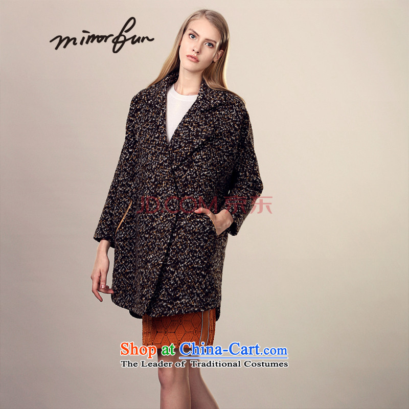 The MIRROR volume coarse wool terylene FUN coats Xuan grass WONG M