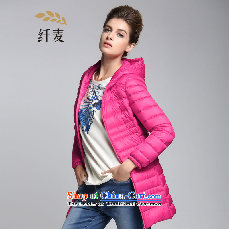 The former Yugoslavia mecca for larger women 2015 winter clothing new thick mm thin stylish candy color graphics down jacket?944121089??3XL red