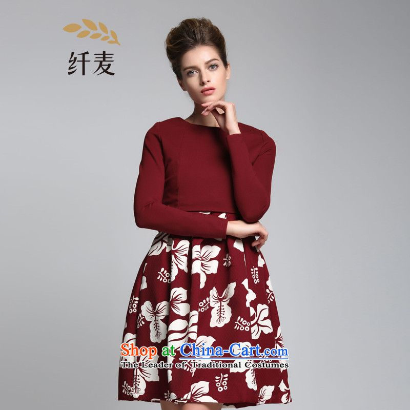 The former Yugoslavia Migdal Code women 2015 Autumn replacing the new mm thick and stylish high-rise two kits dresses?red?3XL 951101822