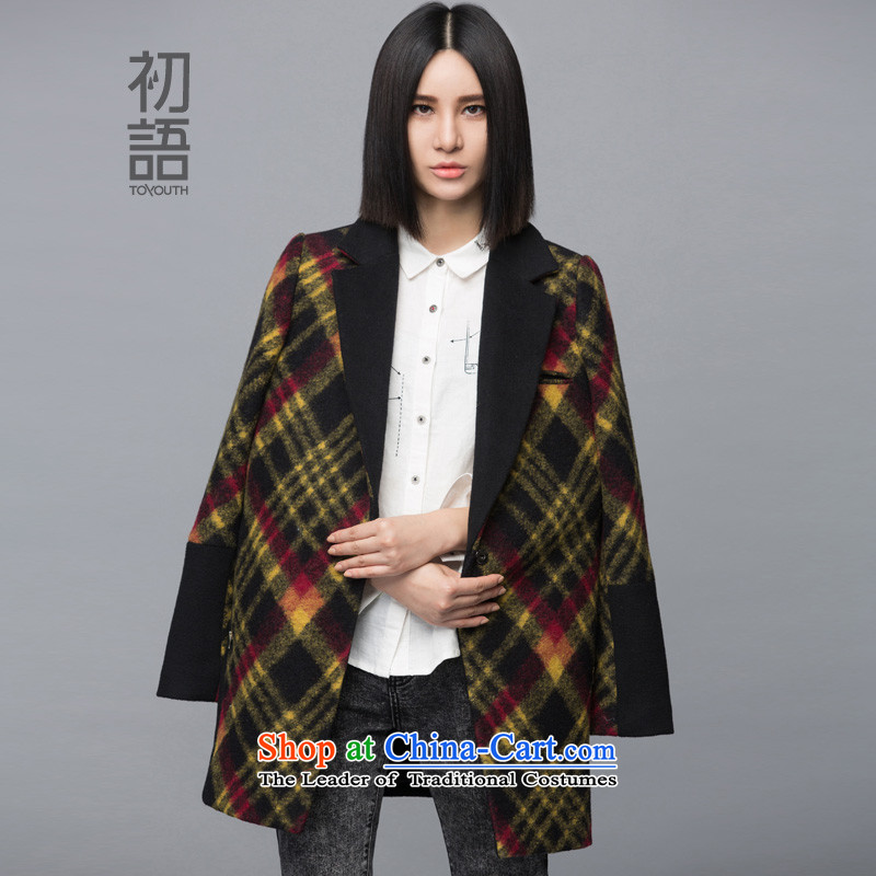 The early Arabic autumn and winter new gross? In Liberal Women Jacket coat long female 8441224071 Yellow燤