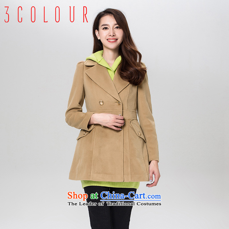 Tri-color and stylish two kits of pure colors wild elegant graphics in thin long coat female Xl_170_92a Coffee