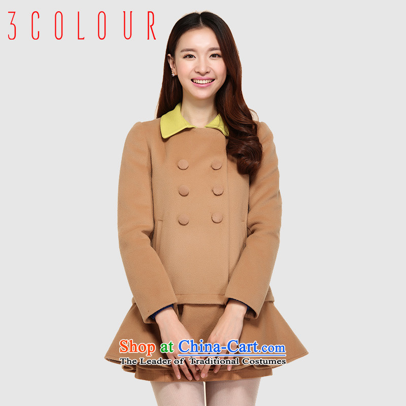 3 Color can be split into color lapel Classic double-romantic skirted grew up under the coffeeL/165/88a Yi