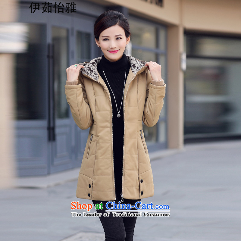 El-ju Yee Nga聽2015 Winter 4XL mother large load women in long thick stitching cotton coat thick cotton to increase MM J99085 card its聽XXXXL