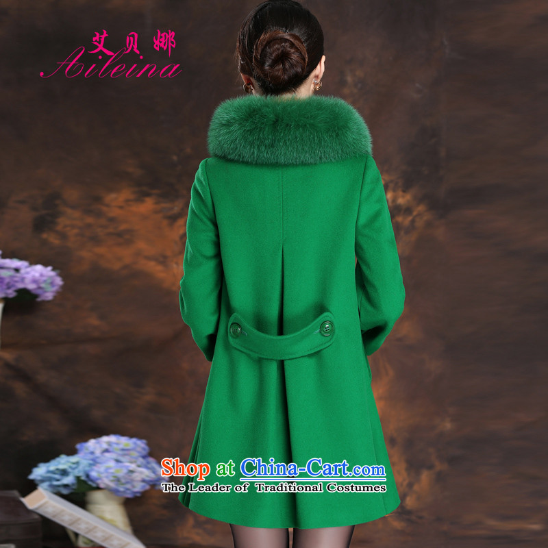 Hiv benazir bhutto Fox for Korean duplex gross cashmere overcoat female jackets autumn and winter 2015 new medium to long term gross flows of jacket green聽L?
