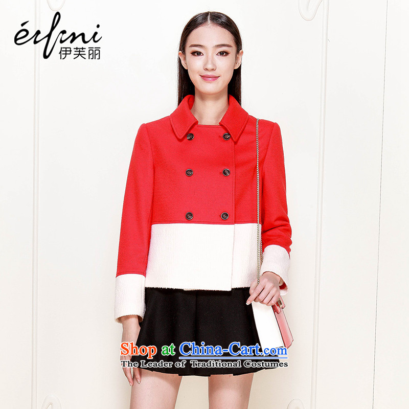 El Boothroyd�15 winter clothing new Korean double-spell colors? jacket 6481231655 red燣