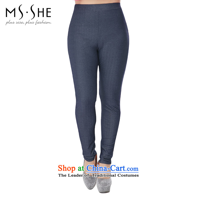 The extra female MSSHE replace 2015 new autumn replacing Denim blue trousers, forming the castor trousers Sau San 2,745 Denim blue聽T1