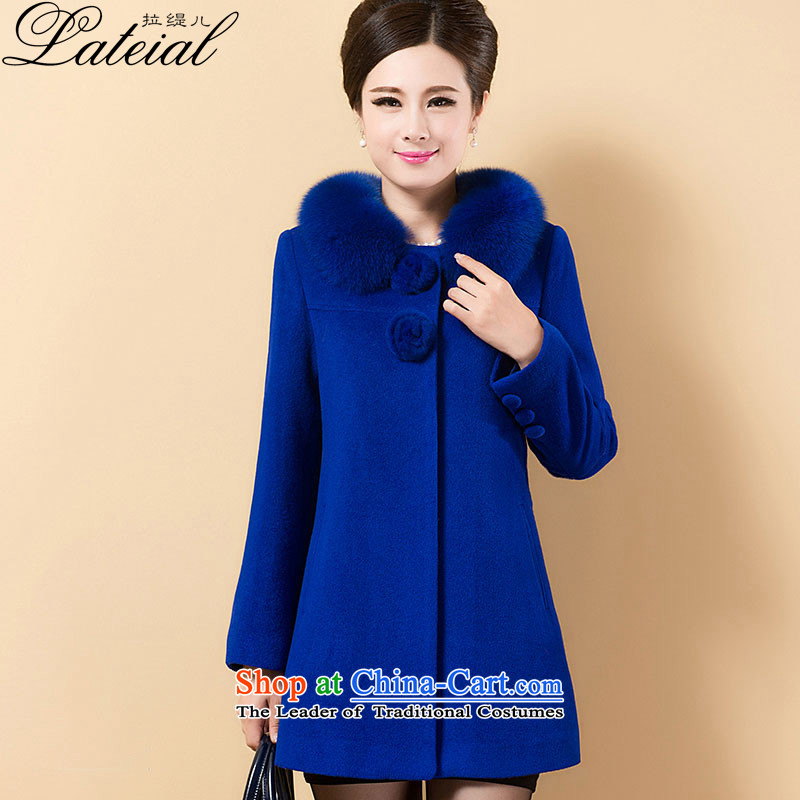 Pull the economyby 2015 new autumn child care for women in their long hair mother load gross Sau San??  8128 sub-bo jacket blueL