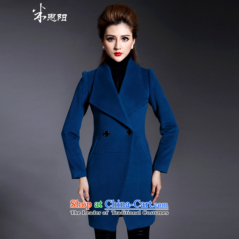Meath Yang Ice 2015 gross? coats really jacket women in long winter clothing Western New Graphics thin long blue Sau San XXXL