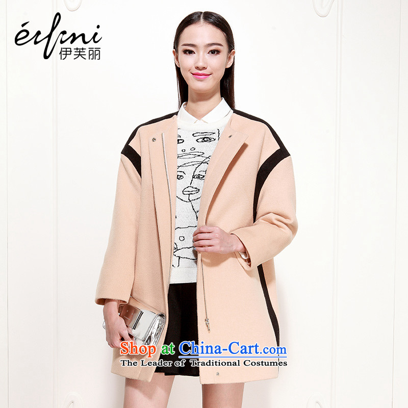 Of the 2015 autumn and winter, the new Korean knocked the auricle-Jacket Color lapel gross? coats 6481127607 khakiM
