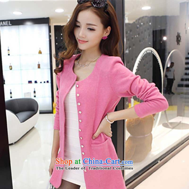 To increase the number of women with large burden 200 autumn jackets thick mm spring 2015 thick sister Sau San won video graphics thin knitting cardigan燲XXXL pink jacket for 185-210 catty